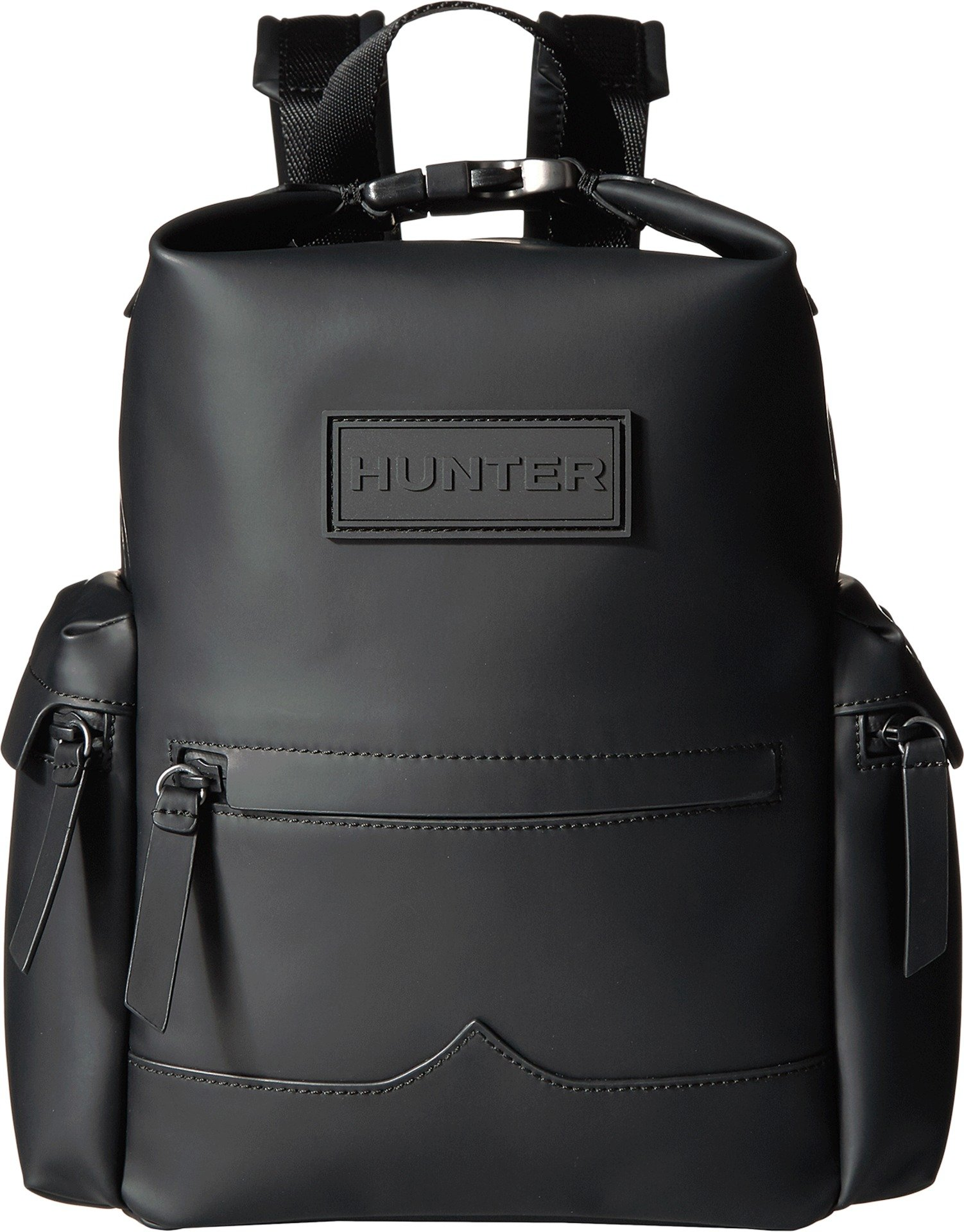 Hunter Boots Men's Original Rubberised Leather Backpack, Black, One Size