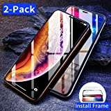 Ainope Screen Protector Compatible with iPhone X & iPhone Xs,2-Pack [Alignment Frame] Tempered Glass Screen Protector for Apple iPhoneX/Xs/10 5.8-inch 2018 Ultra Slim [Case Friendly] Anti-Fingerprint