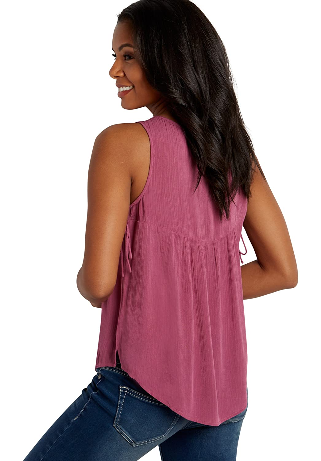Maurices Women's Lightweight Tank With Lacy Yoke