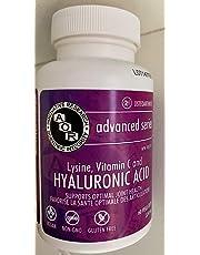 Hyaluraonic acid 98.5mg Sodium Hyaluronate (pharmaceutical grade) + Lysine and Vitamin C (60 VeggieCaps) Brand: A.O.R Advanced Orthomolecular Research