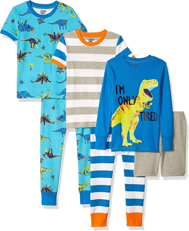 Brand Spotted Zebra 6-Piece Snug-Fit Cotton Pajama Set
