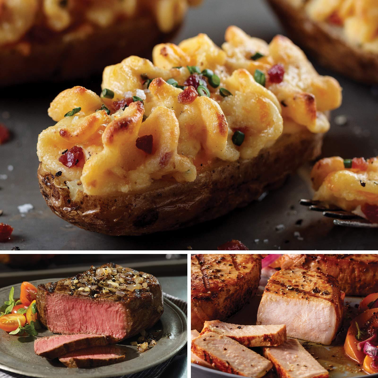 Omaha Steaks Complete Treat (12-Piece with Top Sirloins, Boneless Pork Chops, and Stuffed Baked Potatoes)
