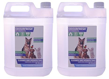 Odourfresh Polvo de bebé Pet desinfectante – Alto Nivel desinfectante, Limpiador y ambientador de caseta