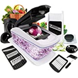 Fun Life 8 in 1 Vegetable and Onion Choppers, Mandolin Slicer and Food Dicer, Multifunctional Cutter, Includes Mandoline, Julienne, Spiral and Ribbon Slicer, Best for Potatoes, Carrots and Tomatoes