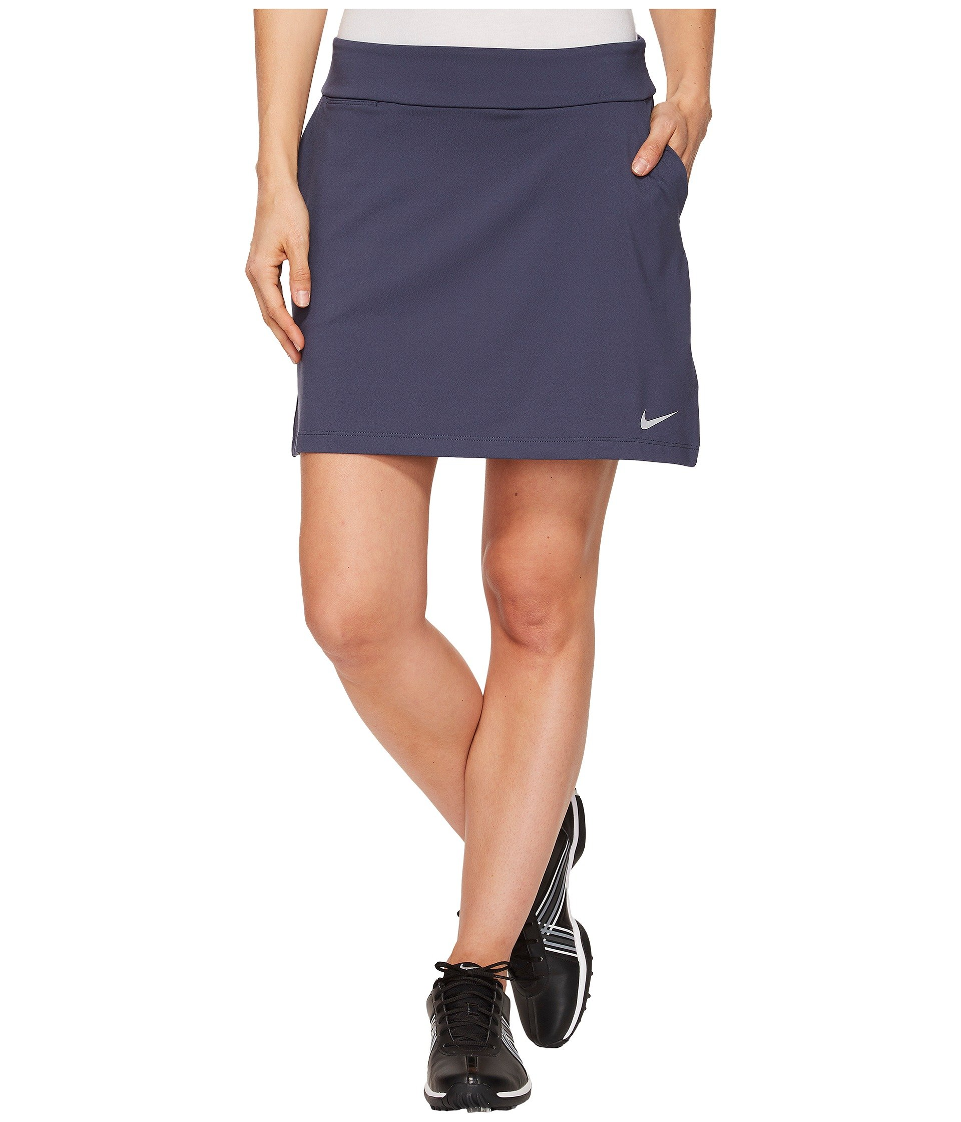 NIKE Dri Fit Knit 16.5in Golf Skort 2018 Women Thunder Blue/Flat Silver X-Small