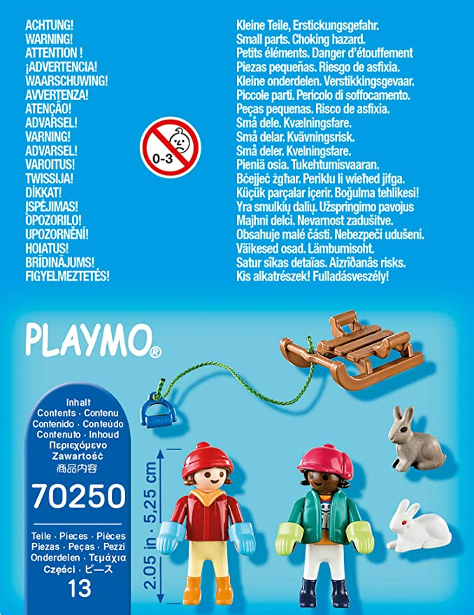 NEW 2020 PLAYMOBIL® 70250 Children with Sleigh S/&H FREE WORLDWIDE
