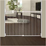 Dreambaby Broadway Extra Wide and Tall Expandable Gate with Track It Technology, White