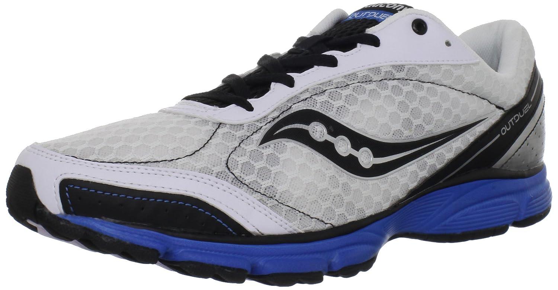 Saucony Men's Grid Outduel Running Shoe B006NZH37E 8.5 D(M) US|White/Black/Royal