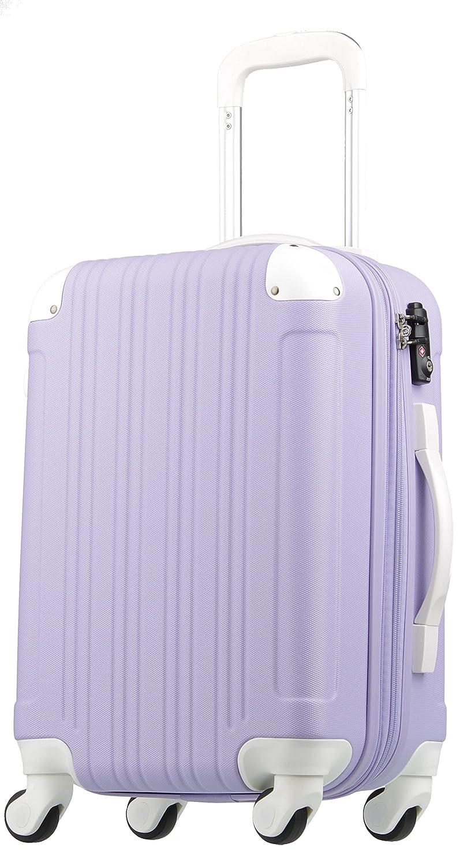 【レジェンドウォーカー】LEGEND WALKER スーツケース 容量拡張 TSAロック 超軽量 マット加工 ファスナー開閉 5082 B0751DJFMB 機内持込サイズ(1~3泊/33(拡張時40)L)|ラベンダー/ホワイト ラベンダー/ホワイト 機内持込サイズ(1~3泊/33(拡張時40)L)
