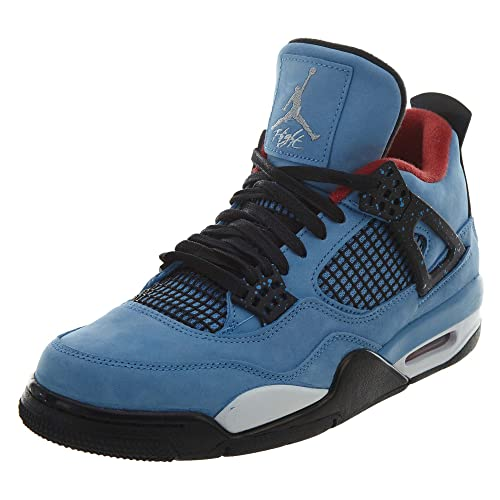 82b3a4f2c4856 Nike Jordan Men's Air 4 Retro, University Blue/Black