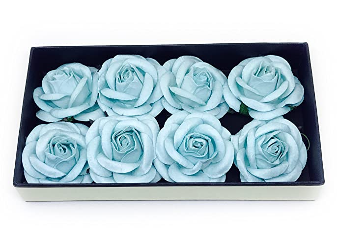 Amazon 2 blue flowers paper flowers paper flower flower 2quot blue flowers paper flowers paper flower flower backdrop blue wedding mightylinksfo
