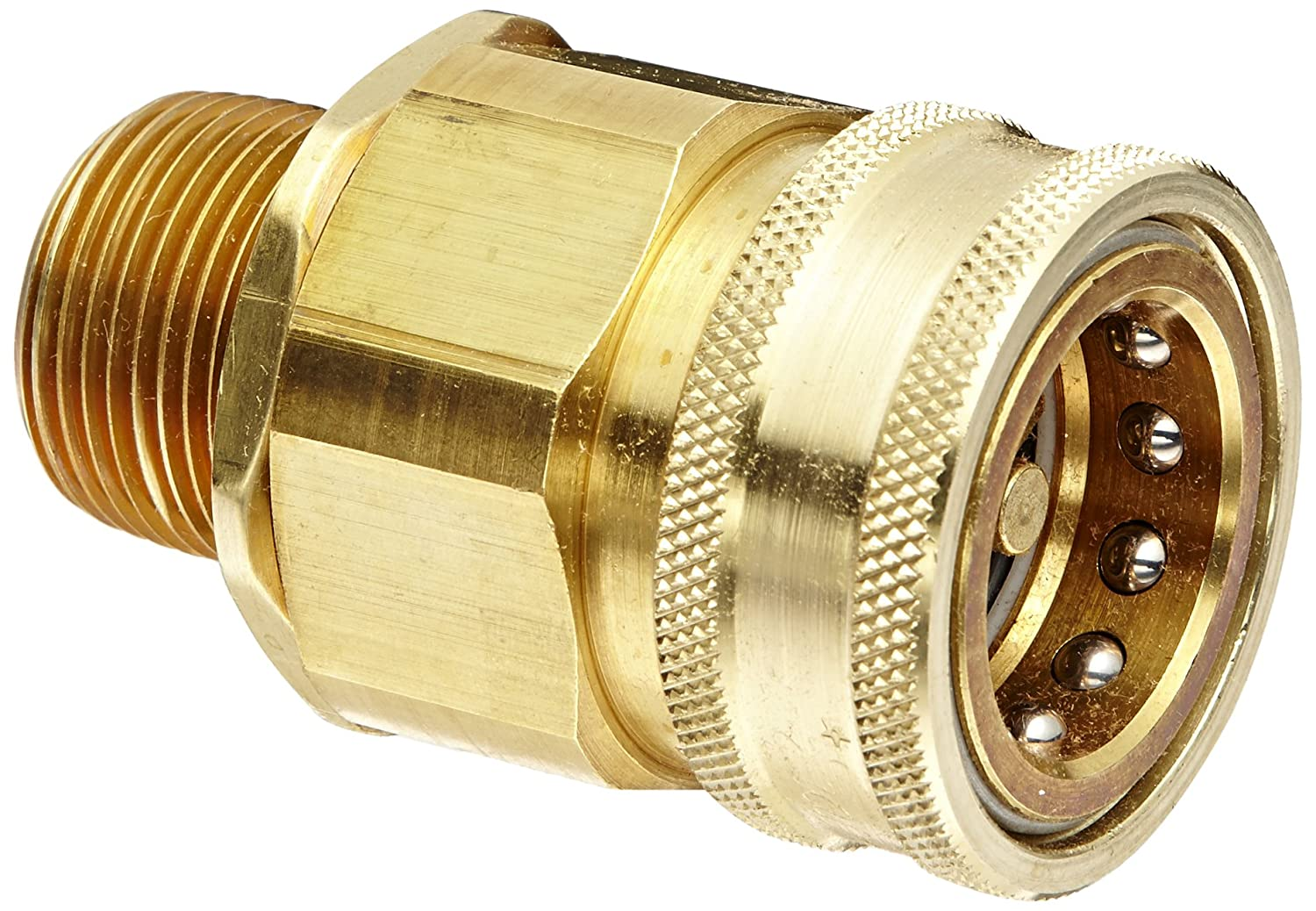 Snap-Tite BVHC16-16M Brass H-Shape Quick-Disconnect Hose Coupling 1 NPTF Male x 1 Coupling Size 1 NPTF Male x 1 Coupling Size Sleeve-Lock Socket