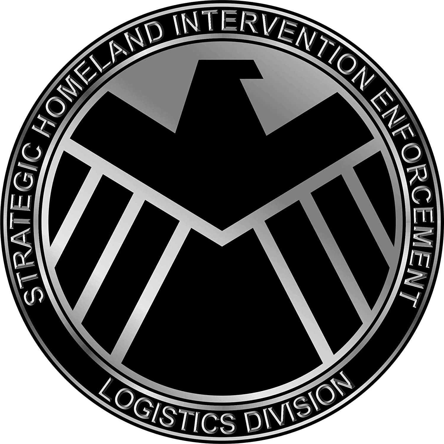 Marvel's Agents of SHIELD Symbol Logo Repositionable Wall Graphic Decal  Sticker-TV-Movies-Gift