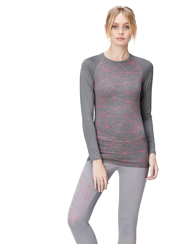 TALLA 38 (Talla del Fabricante: Small). Activewear Camiseta Deportiva Mujer