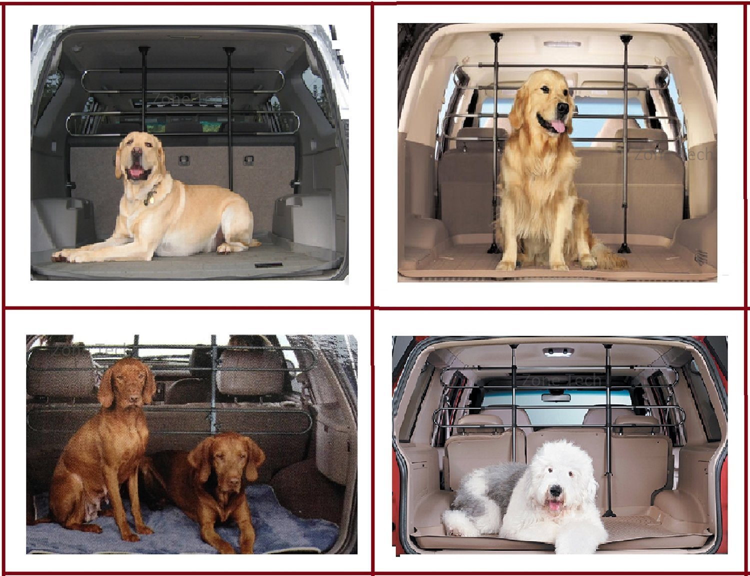 Zone Tech PE0002-C Black Back Seat Barrier Dog Cage (Pet Vehicle Travel Car) by Zonetech (Image #2)