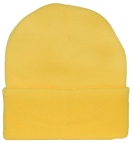 yellow knit cap beanie minion yellow at amazon men s clothing store