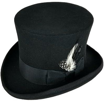 b09883002000e7 Differenttouch 100% Wool Felt Top Hats Victorian Style Made Hatter 6″ Tall  Gentlemen Magic Hats