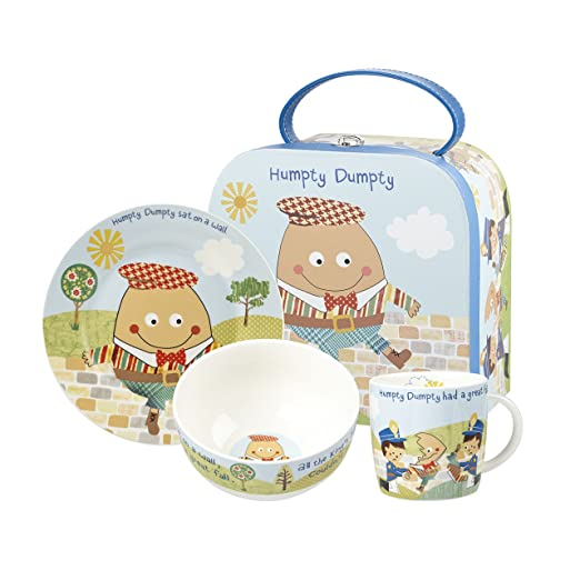Little Rhymes 3 Piezas Humpty Dumpty de Porcelana Juego de vajilla para Desayuno en Caja Regalo: Amazon.es: Hogar