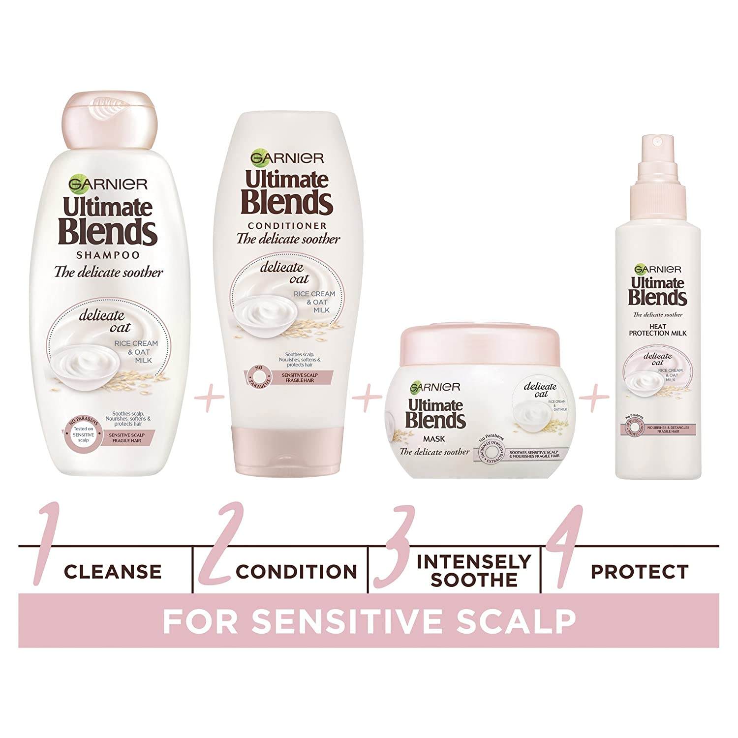 Garnier ultimate blends, avena, leche champú cuero cabelludo sensible, 360 ml, pack de 6: Amazon.es: Belleza