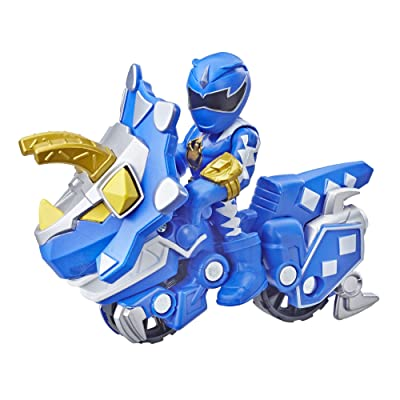 Playskool Heroes Power Rangers Blue Ranger and Raptor Cycle: Toys & Games