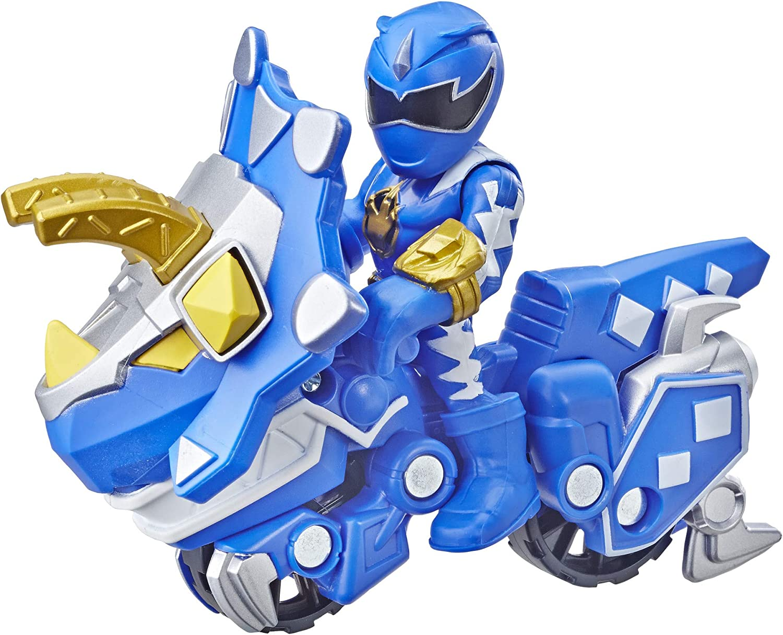 Playskool Heroes Power Rangers Blue Ranger and Raptor Cycle