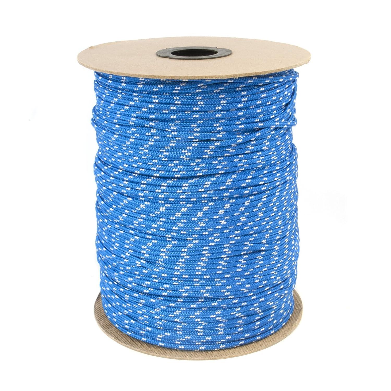 30m POLYPROPYLENSEIL 4mm BLAU Polypropylen Seil Tauwerk PP Flechtleine Textilseil Reepschnur Leine Schnur Festmacher Rope Kunststoffseil Polyseil geflochten