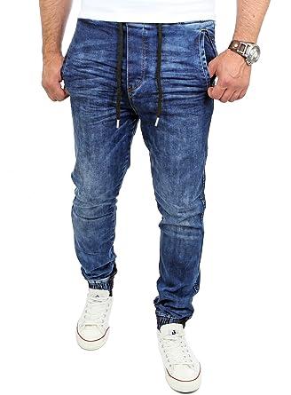 Reslad Jogg-Jeans Männer Freizeit-Hose Casual Style Jeans Jogginghosen  Herren Slim Fit Jogger Vintage Sweathose Hose RS-2071  Amazon.de  Bekleidung c3a5947b41