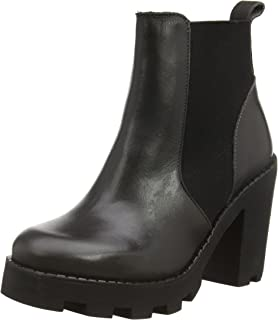 Psvalah Leather Boot Black Noos, Womens Unlined Slip-on Boots Half Length Pieces