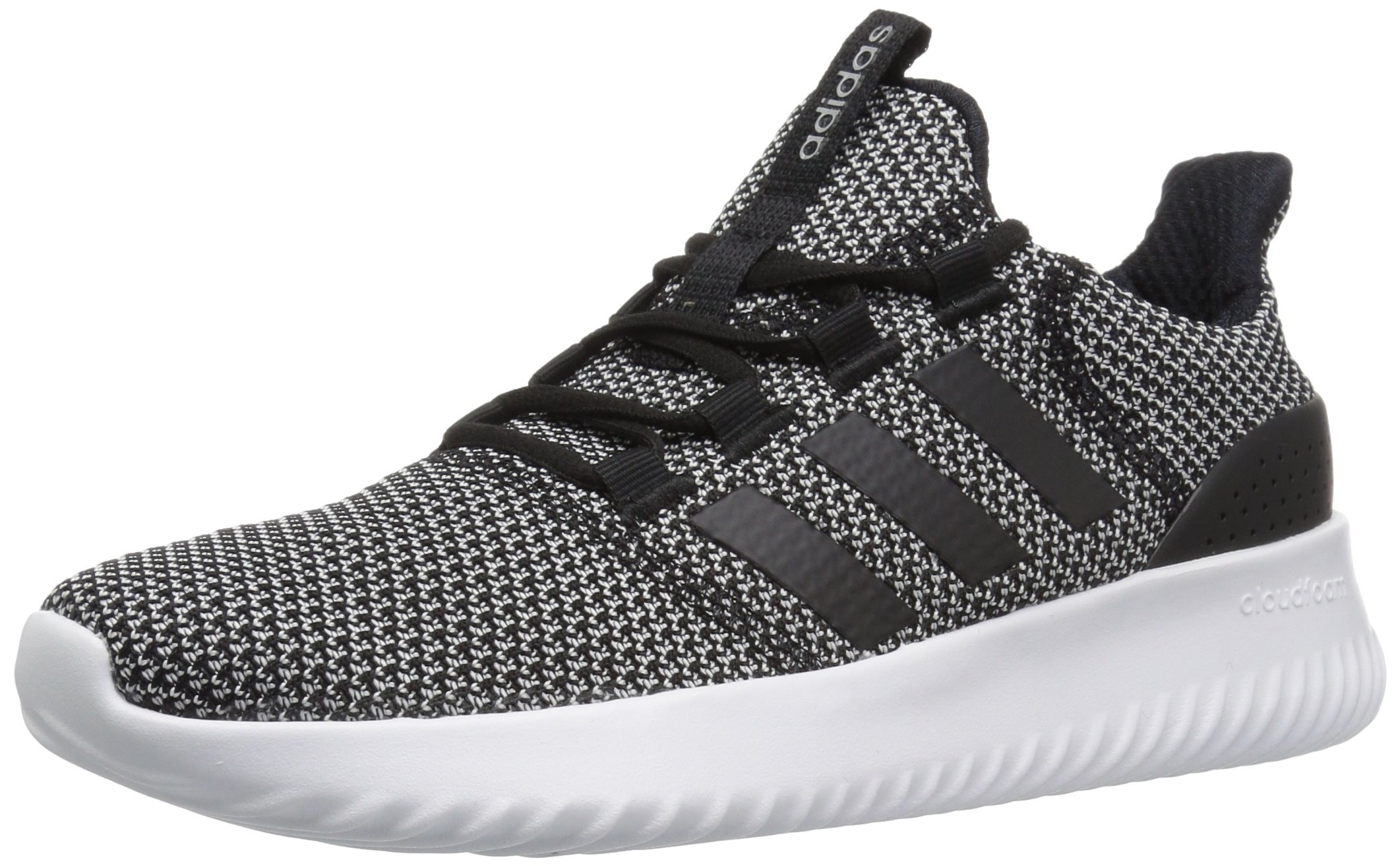 adidas NEO Women's Cloudfoam Ultimate W Sneaker,Black/Black/White,7 Medium US