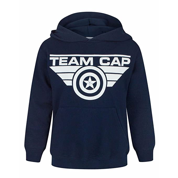 Marvel - Sudadera con capucha oficial de Capitán América modelo Team Cap Unisex para niños/