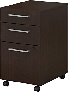 Bush Business Furniture 400 Series 3 Drawer Mobile File Cabinet in Mocha Cherry