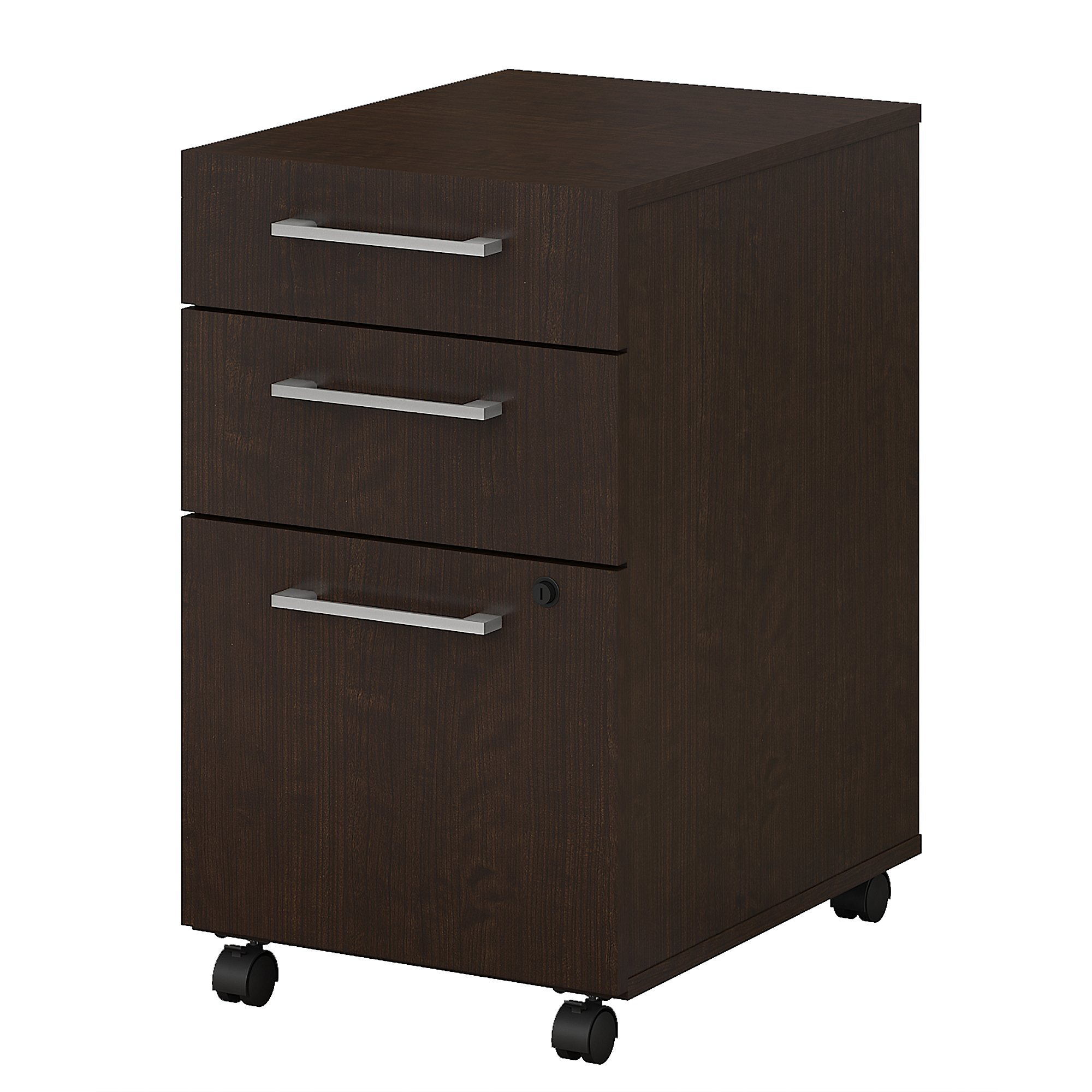 Bush Business Furniture 400 Series 3 Drawer Mobile File Cabinet in Mocha Cherry by Bush Business Furniture