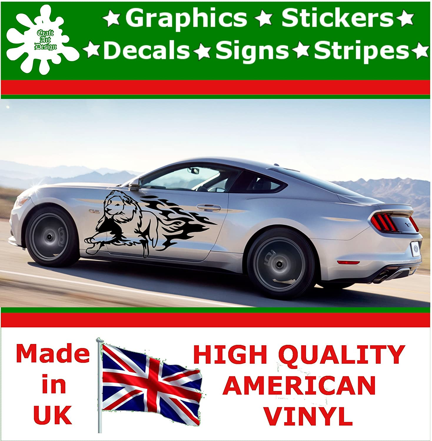 Craft art design lion stickers window stickers self adhesive decal vinyl graphic racing car decal car stickers car vinyl graphic car sticker car accessory
