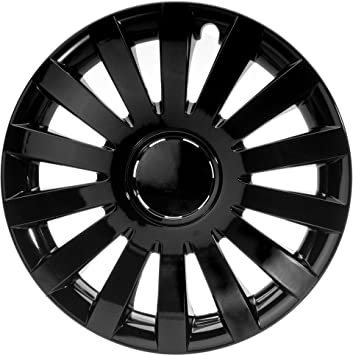 "ALBRECHT automotive 49267 Tapacubos Wind 17"" pulgadas, 4 Unidades, Negro Plus"