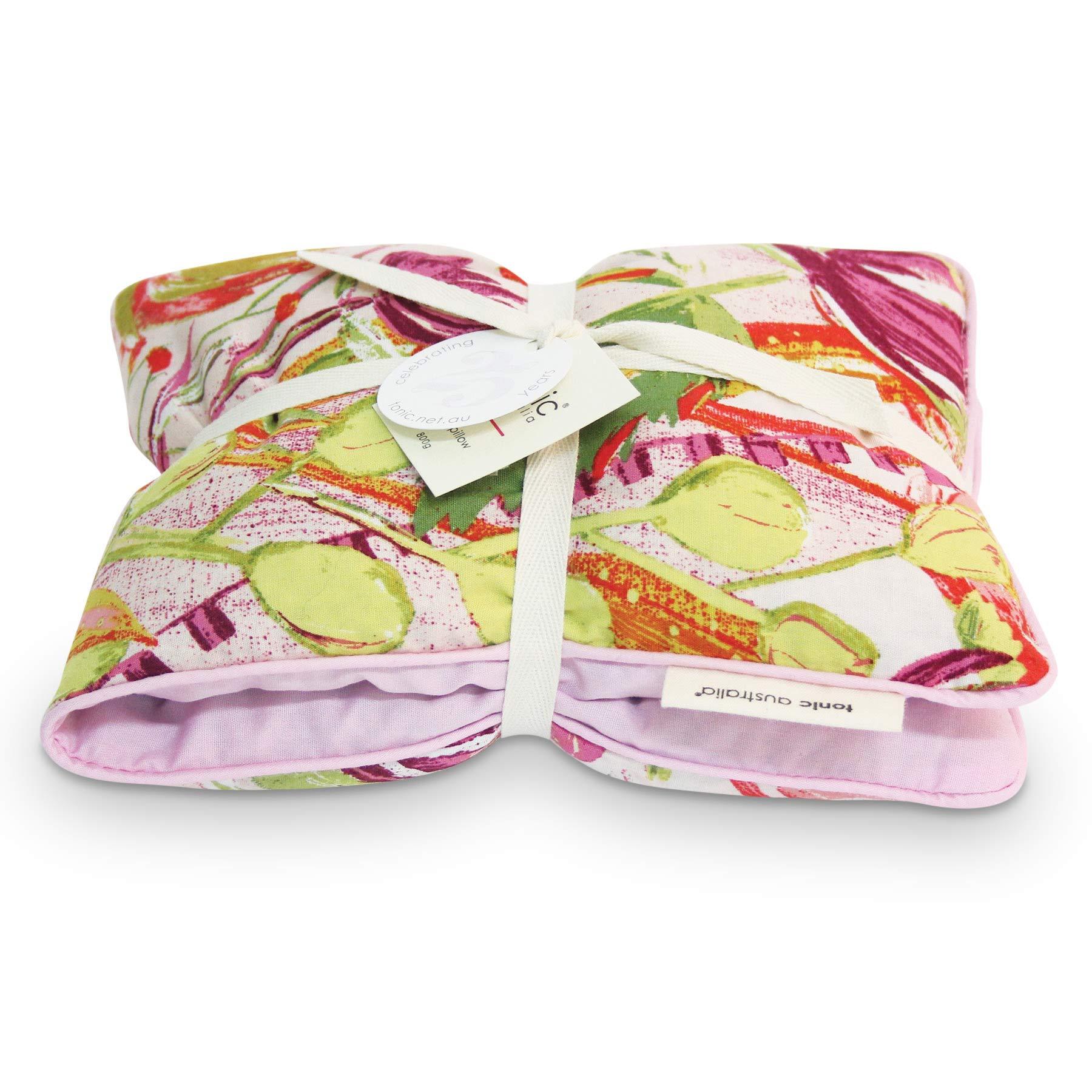 Tonic Australia Stress Relief Heat Pillow Pink Bell Flowers Lavender