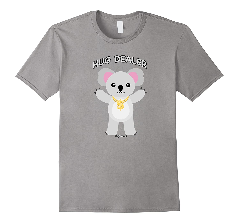 Hug Dealer Koala Bear Funny T-Shirt Gold Chain Dollar Sign-TD – theteejob