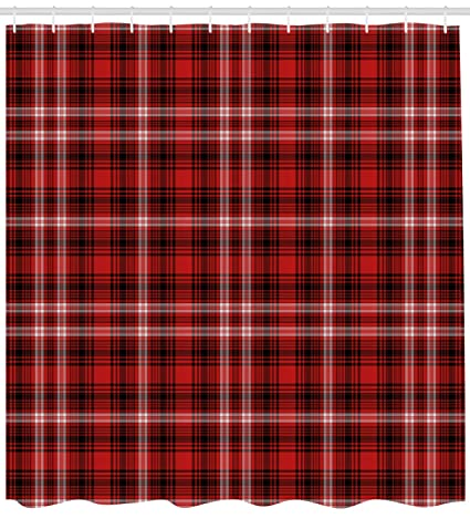 Ambesonne Plaid Shower Curtain Nostalgic Striped Pattern From British Country With Constrasting Colors Fabric