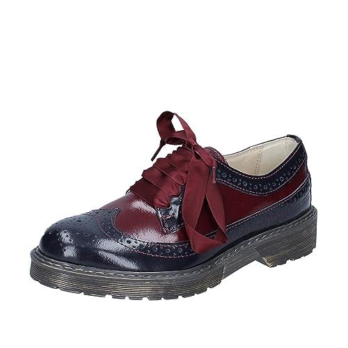 BEVERLY HILLS POLO CLUB - Zapatos de Cordones de Piel para Mujer ...