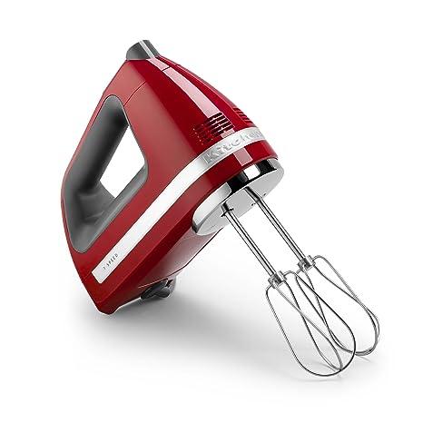 KitchenAid KHM720ER 7-Speed Digital Hand Mixer, Empire Red