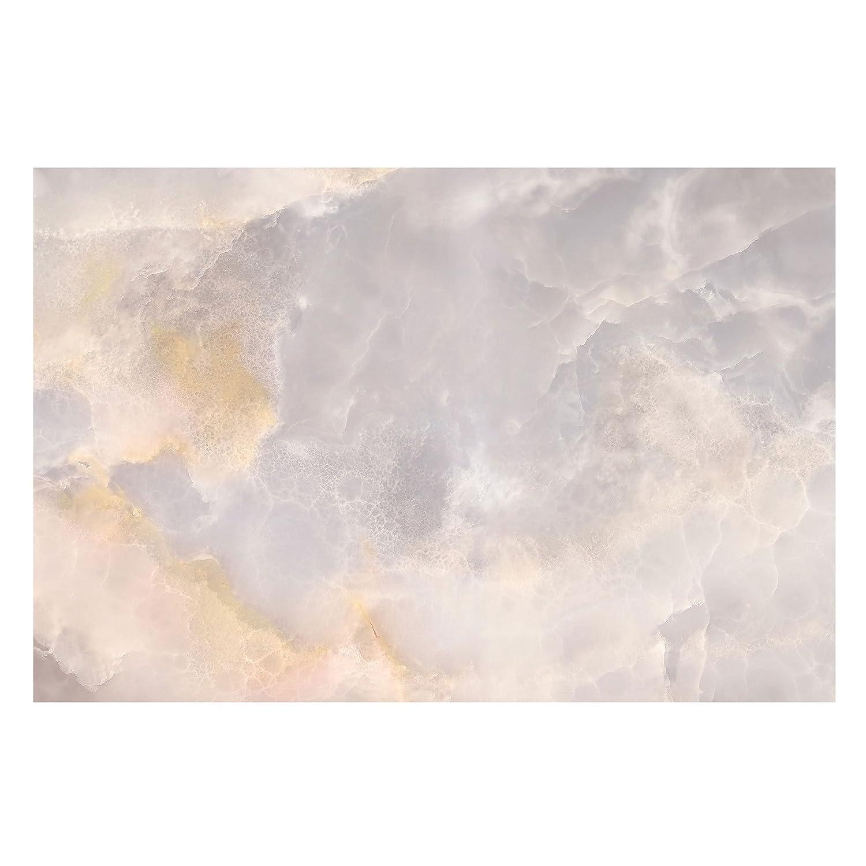 Marmor Tapete - Onyx Marmor Grau - Vlies Wandtapete Breit, Größe HxB  225cm x 336cm