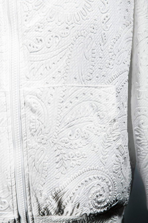 ByTheR Mens Paisley Pattern Zip-up Hoodie Embossed Tee Darkwear Gothic Top