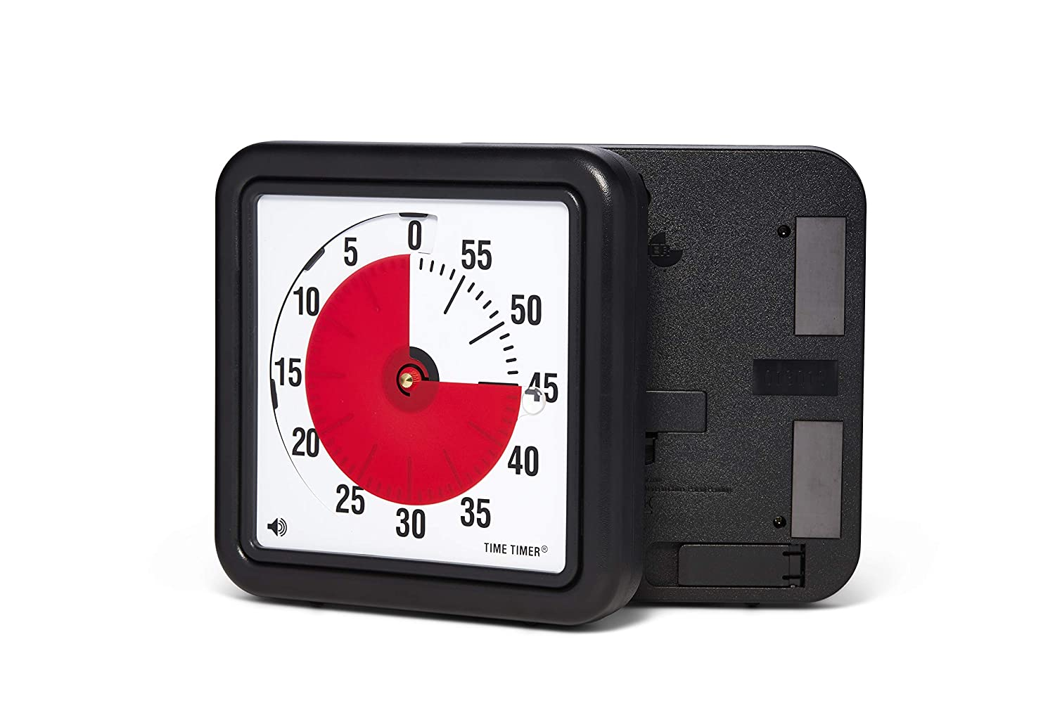 Time Timer Original 8-inch Magnetic Visual Timer — for Kids Classroom Learning, Homeschooling Study Tool and Office Meetings with Silent Operation (Black)