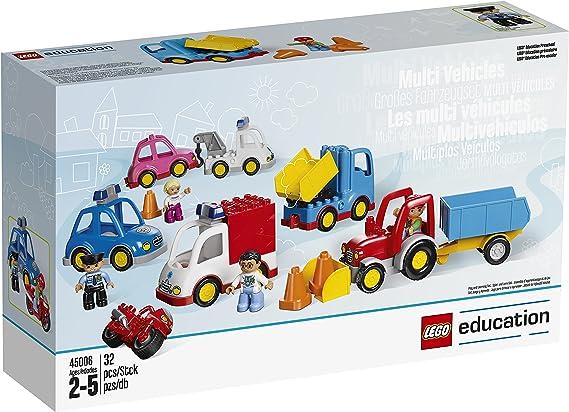 Lego Duplo multi vehículos 2 hasta 5 ambulancias auto tractor camión 45006 2+