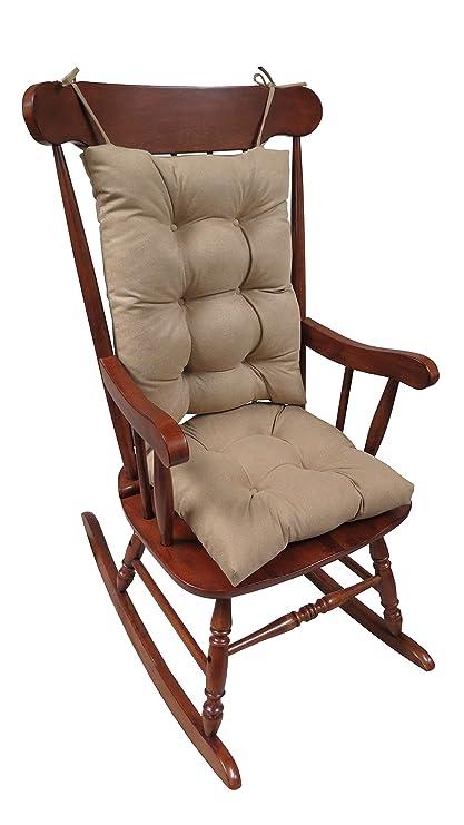 Klear Vu The Gripper Non Slip Rocking Chair Cushion Set Honeycomb, Tan