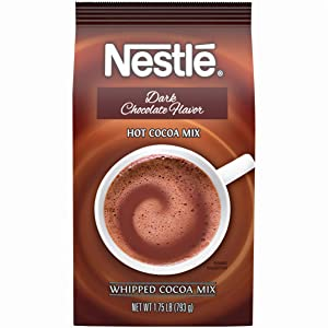 Nestle Hot Chocolate Mix, Dark Chocolate Flavor Hot Cocoa, Bulk Whipped Cocoa, 1.75 lb. Bag