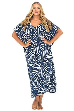 Back From Bali Womens Plus Size Maxi Dress Beach Cover Up Tropical