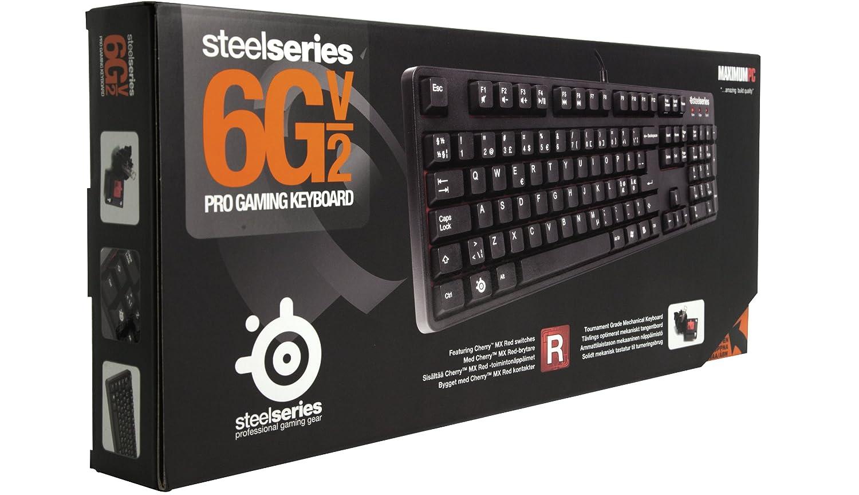 Steelseries 6GV2 Red Switch - Teclado (USB, Juego, USB, Negro, USB - PS/2, PC/server): Amazon.es: Informática
