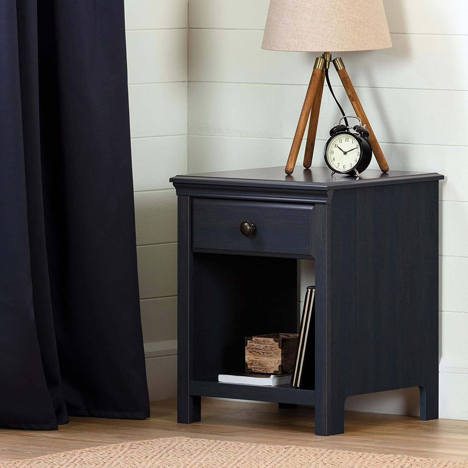South Shore Cotton Candy 1-Drawer Nightstand-Blueberry