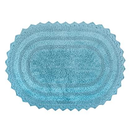 Amazon Dii Ultra Soft Spa Cotton Crochet Oval Bath Mat Or Rug