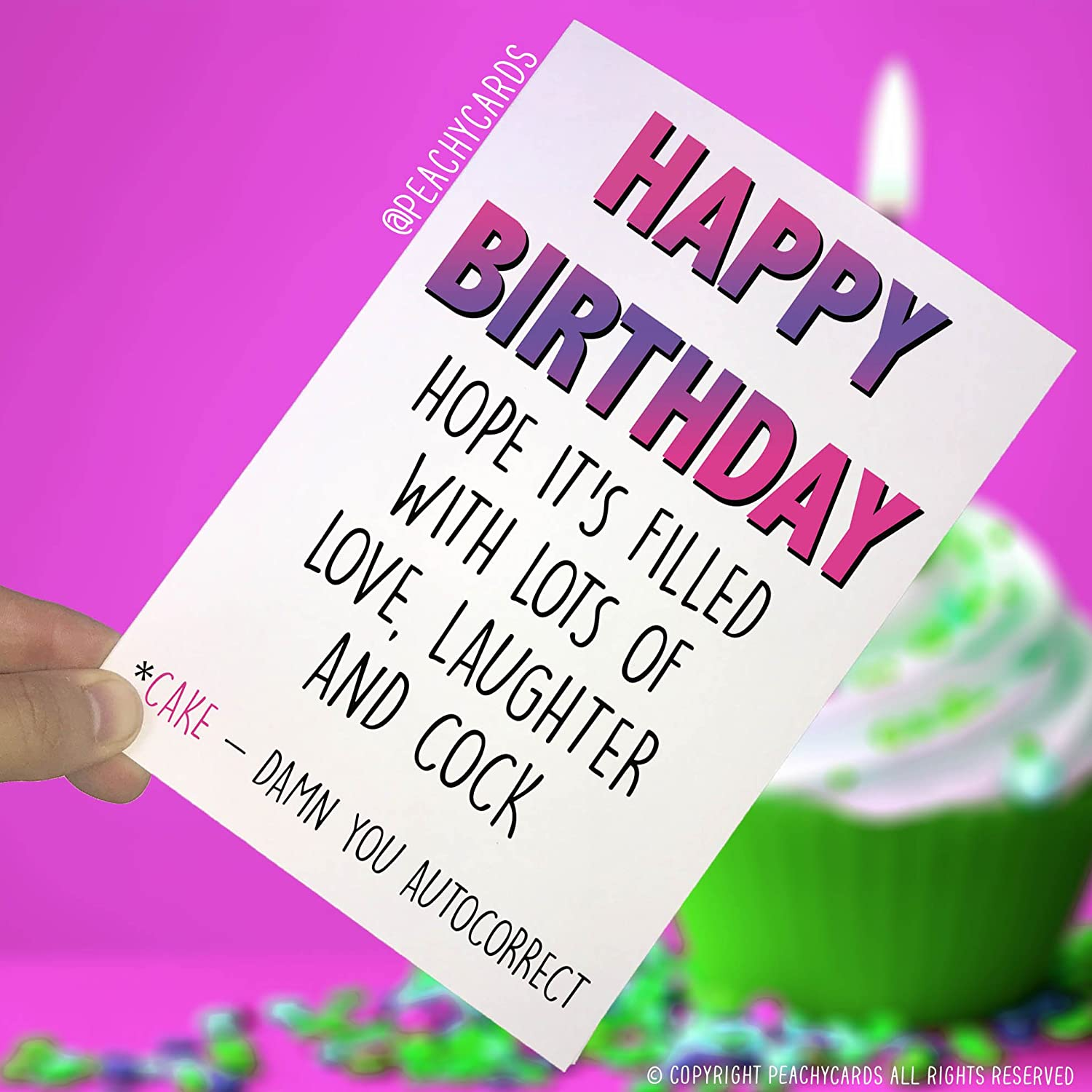 Funny Birthday Cards Happy Card Novelty Joke Greeting Friends Offensive PC234 Amazonca